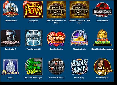 Roxy Palace Online Casino Games