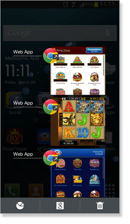 Web Apps on a Samsung