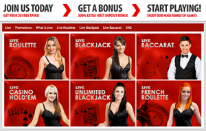 BGO live dealer online casino site