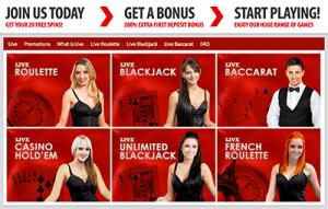 BGO live dealer online casino site