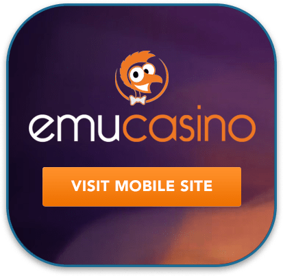 Emu Casino  - Android and iOS mobile site