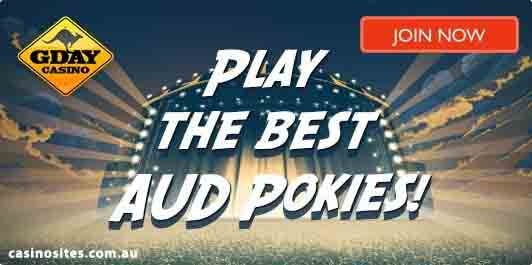 Play online casino pokies for real money at Gday