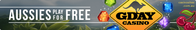 Play casino games for free at G'Day Casino