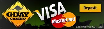 G'Day Casino - Safe MasterCard and Visa deposits accepted
