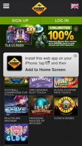 G'day Casino web app