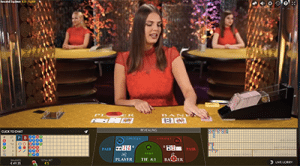 Live dealer baccarat by Evolution Gaming at Wixstars
