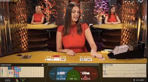 Live dealer baccarat by Evolution Gaming at Wixstars