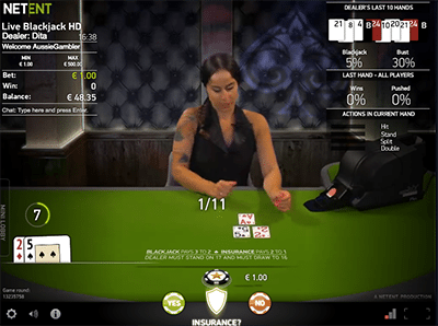 netent live dealer blackjack