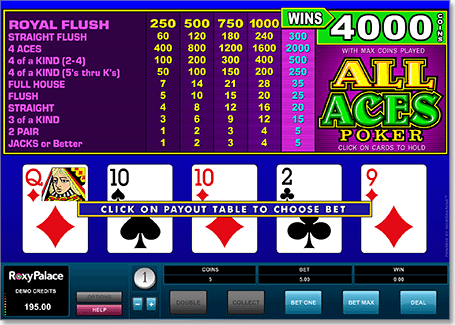 Aces Video Poker