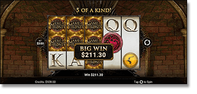 Play Game of Thrones in a pokies app