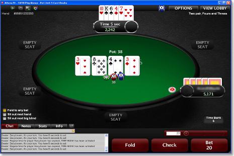 Play Online Omaha Poker