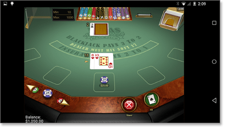 Vegas Single Deck online Blackjack for Android