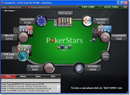 Play Razz poker online