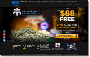 Play online poker tournaments at 888 Poker