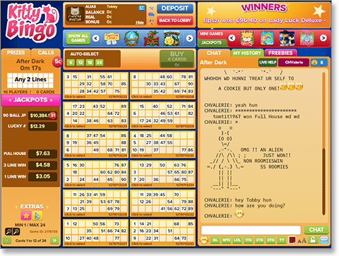 Play chat games in online bingo