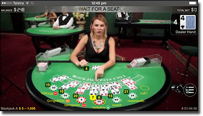 Play Live Dealer blackjack on mobile