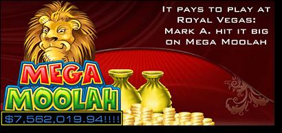 Mega Moolah progressive jackpot cash winners