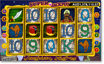 Play Arabian Nights online to win big jackpots
