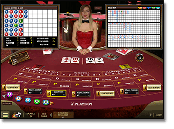 Play live dealer playboy bunny Baccarat