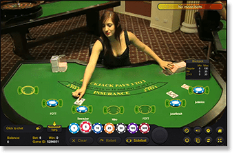Play Ezugi live dealer blackjack