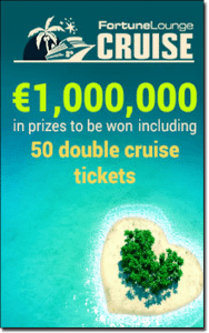 Win a Fortune Lounge cruise ship holiday for two at online casinos