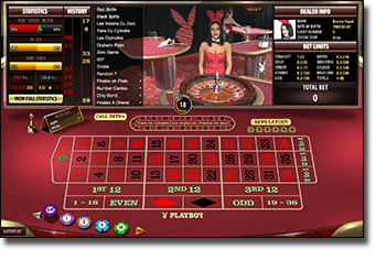 Play Playboy Bunny live dealer roulette online