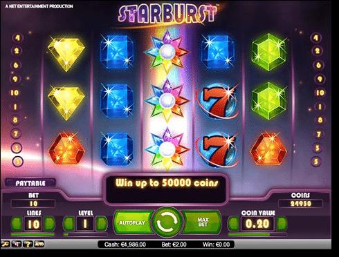 Play Starburst pokies online