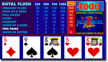 Play Microgaming Jacks or Better Video Poker for real money online