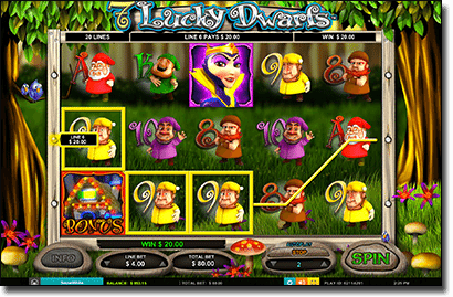7 Lucky Dwarves slots by Leander Games