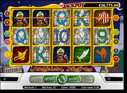 Play Arabian Nights progressive jackpot slots