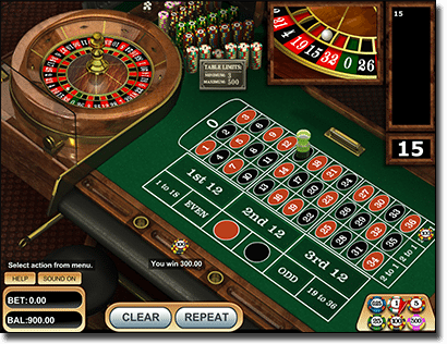 Play BetSoft developed European Roulette online