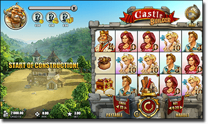 Castle Builder AUD slots on the Web