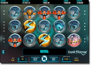 Play Cosmic Fortune high-stakes pokies online