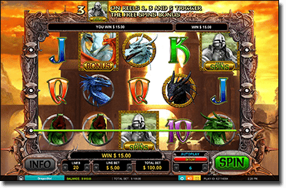 Dragon Slot pokies by Leander