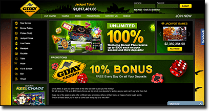 G'Day Casino - weekly AUD bonuses and promotions