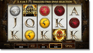 Play Game of Thrones online pokies