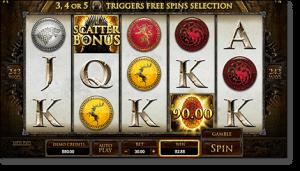 Play Game of Thrones online pokies