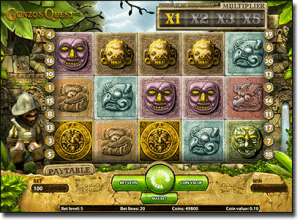 Play Gonzo's Quest online pokies by Net Entertainment