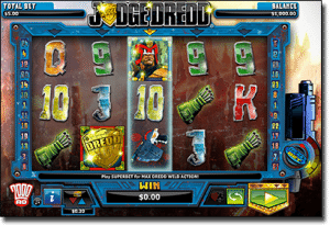 Play Judge Dredd real money pokies