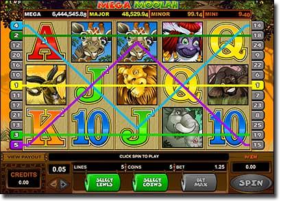 Play Mega Moolah jackpot pokies online