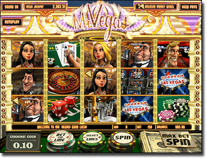 Play Mr. Vegas online pokie by BetSoft