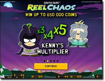 Play South Park Reel Chaos and multiply jackpot pokies winnings