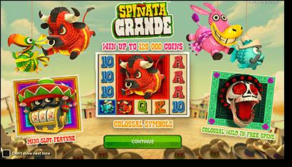 Play Spinata Grande pokies online