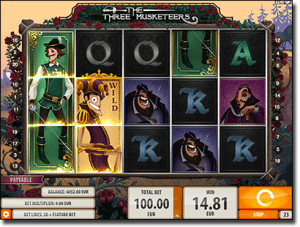 The Three Musketeers online pokies
