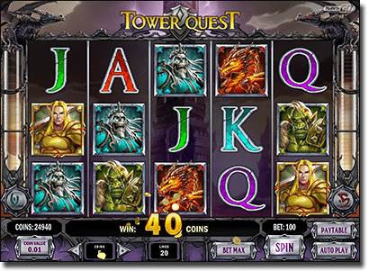 Tower Quest pokies by Play'n Go