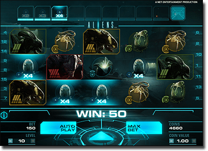 Play Aliens pokies by Net Ent online