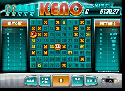 Play Bonus Keno online