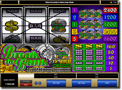 Play Break da Bank online slots