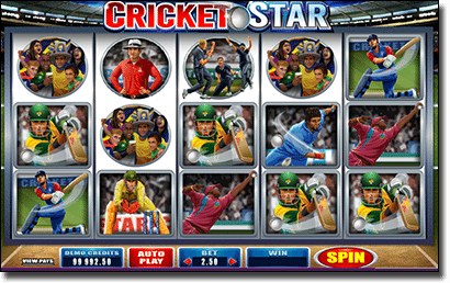Play Cricket Star pokies online for real money