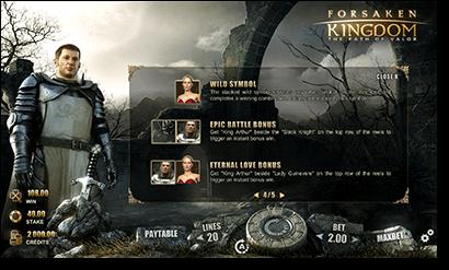 Forsaken Kingdoms slots bonuses